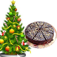 Christmas Tree with Plum Cake, Christmas Gifts to Hyderabad