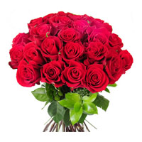 Send Red Roses Bouquet 24 Flowers Online Hyderabad on Diwali