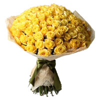 Flowers to Hyderabad : 50 Yellow Roses