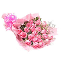 Online Diwali Flowers in Hyderabad that includes Pink Roses Bouquet 60 Flowers to Hyderabad