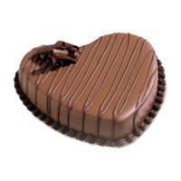 Online Cakes Delivery to Hyderabad - Heart Shape Chocolate Heart Cake