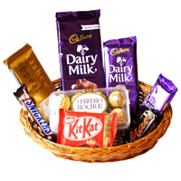 Celebrate Friendship Day Gift to Hyderabad With Chocolate Basket