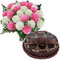 Mix Carnation and Chocolate Cakes to Hyderabad