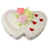 Double Heart Cakes to Hyderabad