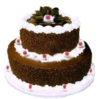 Online Cake Delivery In Khammam Send 3 Kg 2 Tier Eggless Black Forest Cakes