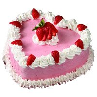 Send Heart Shape Pineapple Cake to Hyderabad GSI Bandlaguda