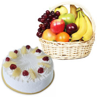 Deliver Gifts Fresh Fruits Basket to Hyderabad Online