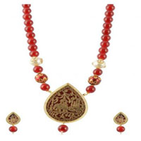 Traditional Thewa Necklace Set