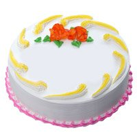 Send Eggless Cakes to Hyderabad - Vanilla Cake