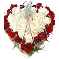 Same Day Valentine's Day Flowers to Hyderabad