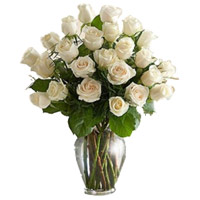 Flowers to Hyderabad : White Roses